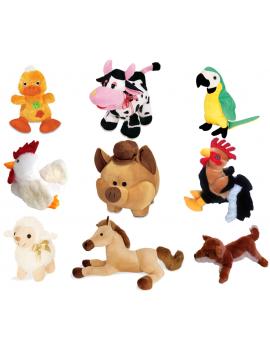 Kit Animais de Fazenda de Pelúcia Antialérgicos