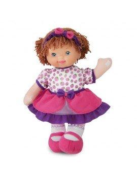 Boneca Luana Rosa 34 cm...