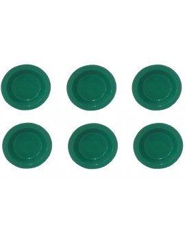 50 Prato Plástico Refeição...